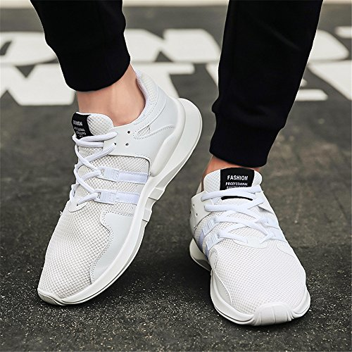 Breathable YMY Men's Running Fashion Shoes Sneakers White qv0xAv