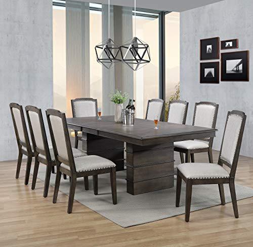 (Sunset Trading DLU-CA113-8C-9PC Cali Dining Set, Brown)