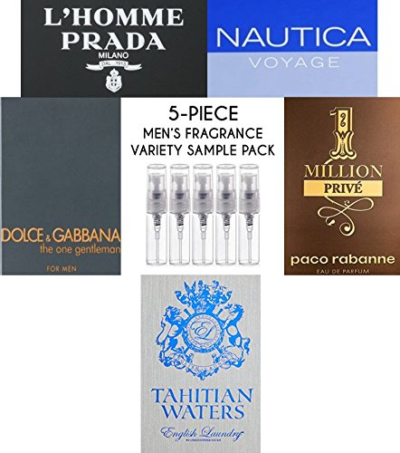 Men's 5-Piece Fragrance Variety Sample Pack )