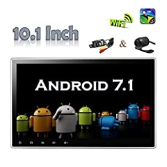 Google Android 7.1 Operation System Quad-Core 1.6GHz CPU, 2GB RAM, 16GB Internal Memory - 10.1 inch Large Capacitive Touch Screen, Screen Angle adjustable, HD Resolution 1024*600 - Multi-Languages: it has more than 60 languages to select - Ca...