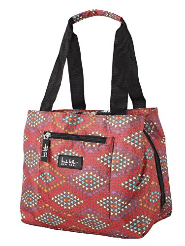 Nicole Miller of New York Insulated Lunch Cooler 11' Lunch Tote (Fiesta Brown)
