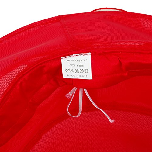 Janey&Rubbins Women's Kentucky Derby Hats Church Organza Dress Caps (Red)