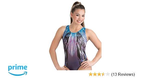 a728428ef Amazon.com  GK Girls Cool Crystal Gymnastics Leotard - Blue   Purple ...