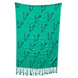 Green Wrap Stole Yoga Prayer Shawl