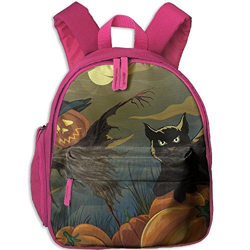 Toddler Pre School Backpack Boy&girl's Halloween Black Cat Pumpkin Scarecrow Book Bag
