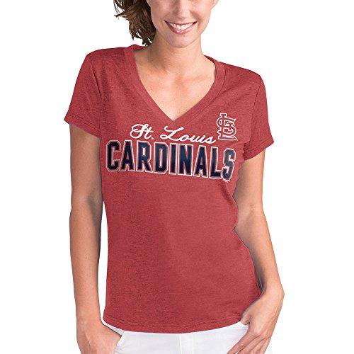 St. Louis Cardinals Women's Red Home Run V-Neck T-shirt XX-Large