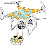 MightySkins Protective Vinyl Skin Decal for DJI Phantom 4 Quadcopter Drone wrap cover sticker skins Orange Slices