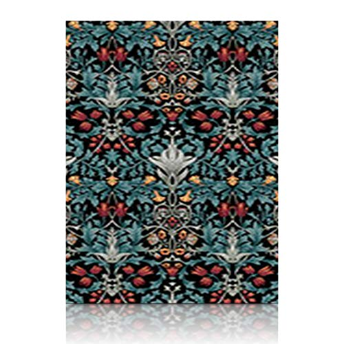 (Homeyard Canvas Prints Wall Art William Arabic Morris Pattern 12 x 16 Inches Wooden Framed Artwork Painting Home Decor Bedroom Office)