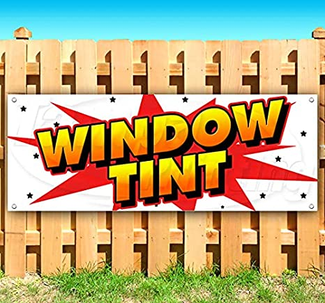 Many Sizes Available New Store Window Tint 13 oz Heavy Duty Vinyl Banner Sign with Metal Grommets Advertising Flag,