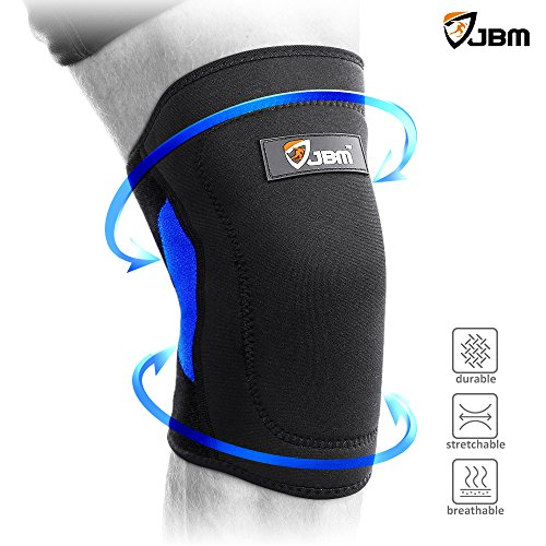 JBM Adult Volleyball Knee Pads Guard Brace Patella Shin Support Protector Knee Stabilizer Safe Comfortable Elastic Durable Impact Resistance Pain Relief for Basketball Football Soccer (Blue & Black)