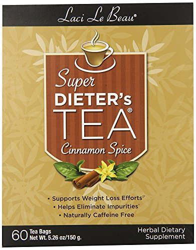 Laci Le Beau Super Dieter's Tea, Cinnamon Spice, 60 bags, 5.26 - Dieters Best Tea