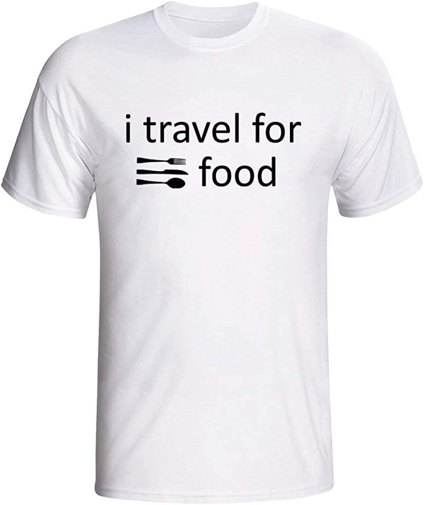 I Travel for Food Men's T Shirts for Happy Camper Show Me Your Tents
