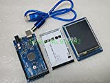 BeediY 3.2'' TFT LCD Touch + TFT 3.2 inch Shield + Mega 2560 R3 with USB Cable for Arduino kit
