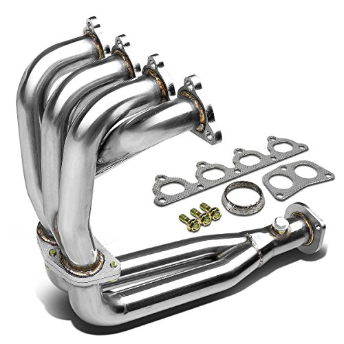 For Honda Civic/CRX/Del Sol Performance 4-2-1 Design Stainless Steel Exhaust Header Kit EC ED EE EF - Torque Tube Header