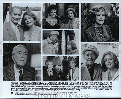 Historic Images - 1988 Vintage Press Photo Barbara Walters in some unforgettable moments of her interviews (Best Barbara Walters Interviews)