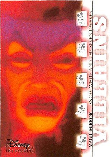 Magic Mirror trading card Disney Treasures Heroes Villans 2003 Upper Deck #45 Snow White Seven Dwarfs