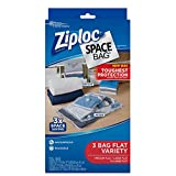 ziploc bags with vacuum - Ziploc Space Bag 3ct Combo Pack (1 Medium Flat, 1 Large Flat, 1 XL Flat)