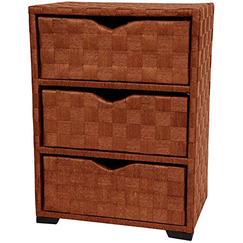 Oriental Furniture Natural Fiber Chest of Drawers - Three Drawer - Honey