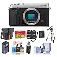 Fujifilm X-E2S Mirrorless Digital Camera Body, Silver - Bundle With Camera Bag, 32GB SDHC U3 Card, Tripod, Spare Battery, Card Reader, Compact Charger, Cleaning Kit, Memory Wallet, Software Package