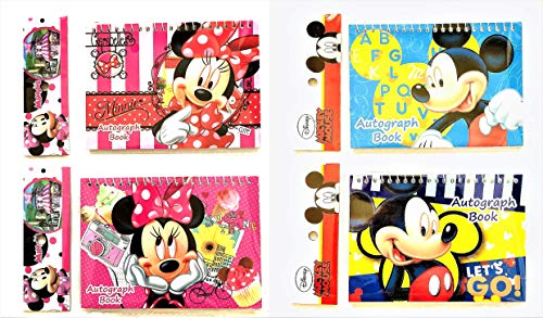 Mickey Autograph (Party Favors Disney Mickey Mouse and Minnie Autograph Note pads Book- (2 pieces Assort Mickey & Minnie))