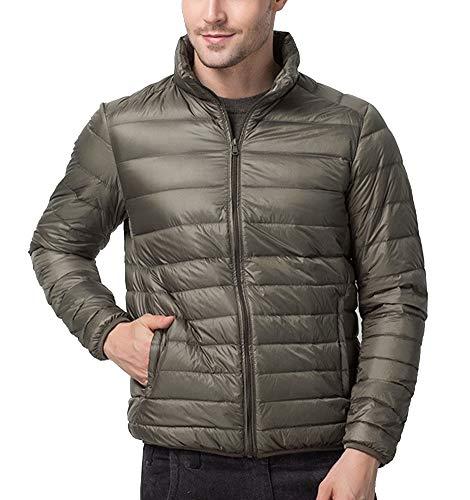 Mens Army Coat Jacket Lightweight GladiolusA Zip Green Warm Full Winter HZnpOwdxq