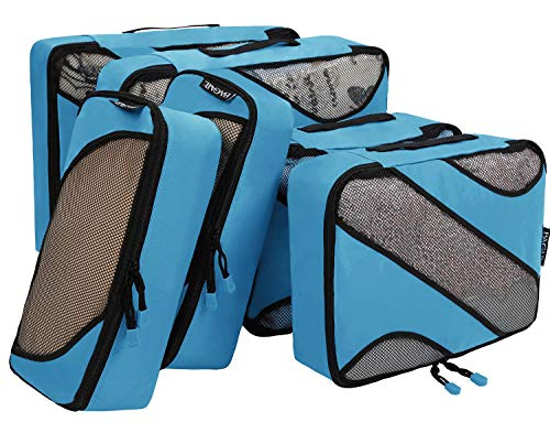6 Set Packing Cubes,3 Various Sizes Travel Luggage Packing Organizers Blue by BAGAIL (Image #5)