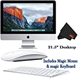 Apple iMac MK442LL/A 21.5-Inch Desktop 2.8GHz 8GB RAM 1TB HDD + Mac Essentials Lifetime Online Support + Magic Keyboard and Magic Mouse