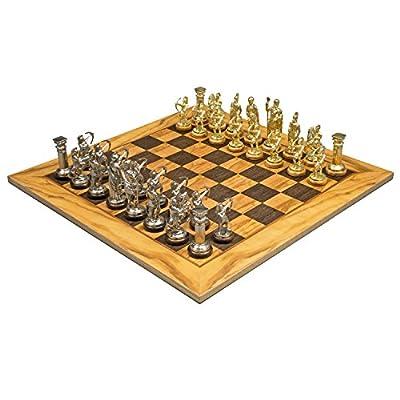 Olive Wood Archers Chess Set