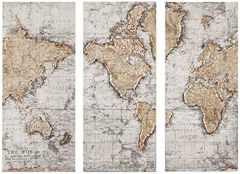Madison Park Map of The World Wall Art-Vintage
