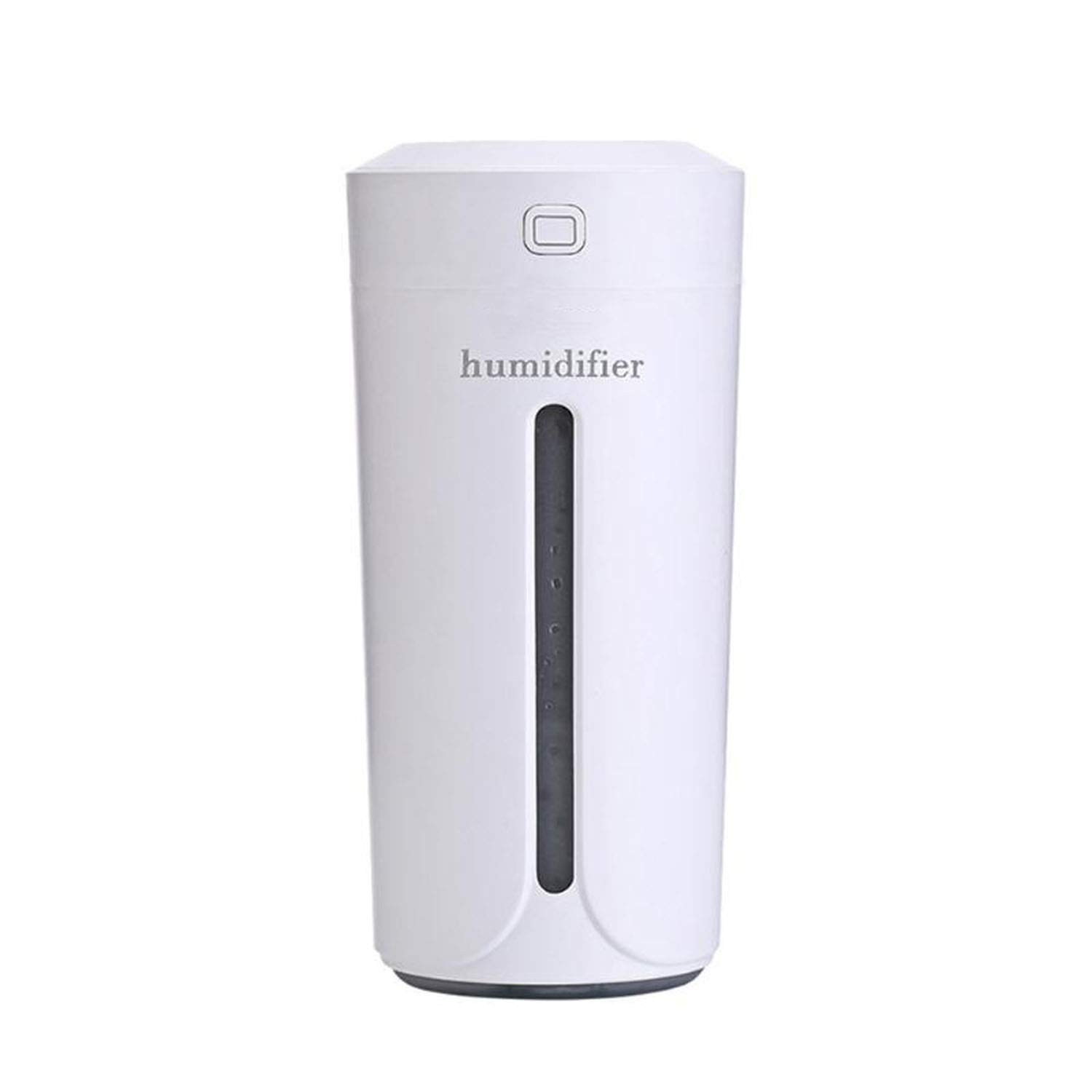 Shallnne 230ml Mini Air Humidifier USB Ultrasonic Humidifier Car Aroma Diffuser Electric Essential Oil Diffuser Cup 7 Color LED Lights,White