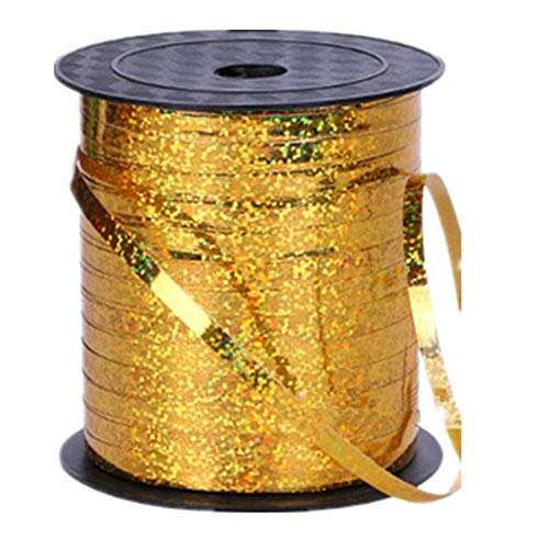 500 Yards Golden Shiny Balloon Ribbons for Parties, Florist,Crafts and Gift Wrapping,