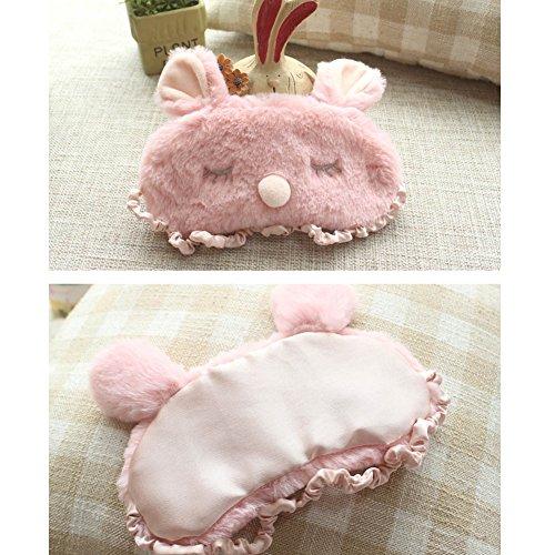 ACTLATI Plush Mask Cute Rabbit Sleep Home Travel