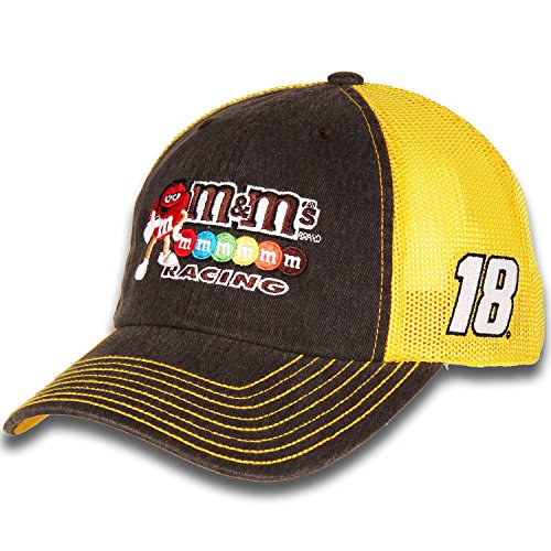 Kyle Busch Cotton - Kyle Busch #18 M&M's Racing Nascar 2018 Sponsor Trucker Mesh Hat / Cap