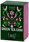 Higher Living Organic Teas Green Chai, 20 Count (Pack of 6)