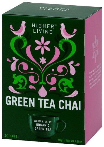 Higher Living Organic Teas Green Chai, 20 Count (Pack of 6) by Higher Living Organic Teas