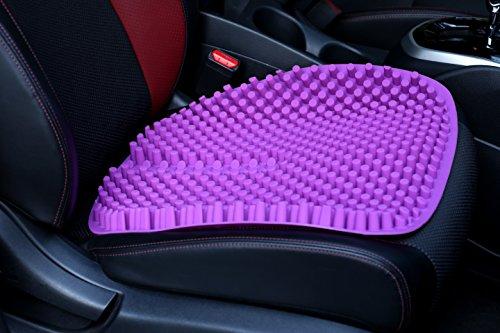 Hylaea Purple Gel Car Seat Pad Chair Cushions for Office Tru