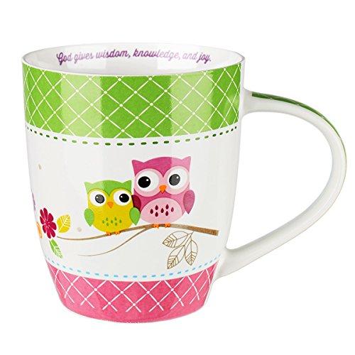 Wisdom is Sweet Green & Pink Mug - Proverbs 24:14 (Sweet Tea Border Collection)