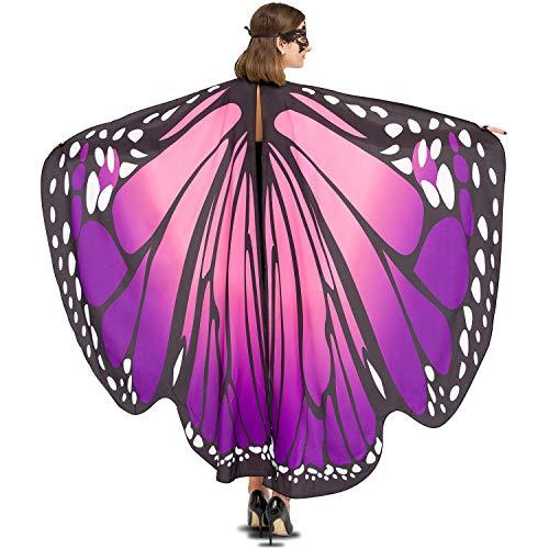 lamibaby Butterfly Wings for Women (Wings Purple Small)