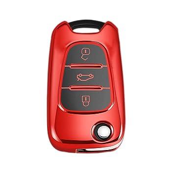 Heart Horse Carcasa de Repuesto para Llave de Coche con 3 Botones, Compatible con Hyundai i20 i30 i35 iX20 iX35 CWTWB1U751 1788D-WB1U751 TWB1U751