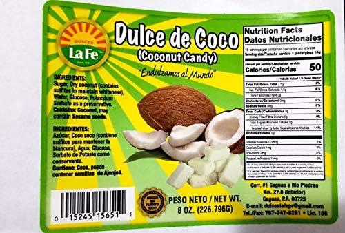 Coconut Candy (Dulce De Coco) By Fabrica De Dulces La Fe