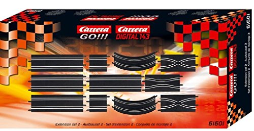 Carrera GO!!! Extension Set #2 - 11 Piece Track Expansion Accessory Pack - For Use With 1:43 Scale GO!!! and Digital143 Slot Car Racetrack ()