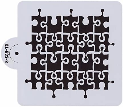 image relating to Printable Puzzle Pieces named Puzzle Elements Print Stencil, 6 x 6 - Decorating and Writing Stencils versus Bakell