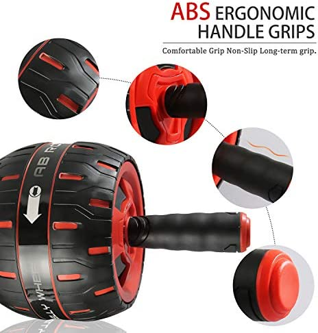 NANYNNU Ab Roller Wheel Abs Workout - Ab Roller Exercise Equipment,Ab Wheel Roller for Home Workout Equipment,Fitness Ab Roller for Core Workouts,Home Abdominal Exercise Equipment for Man and Women 6
