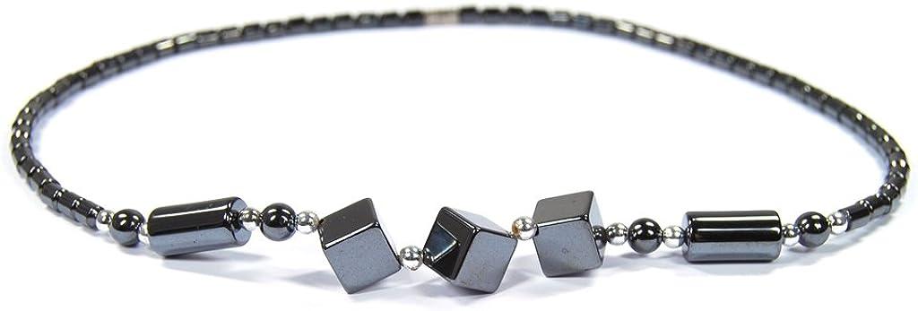 excepcional piedras preciosas collar de Hematites