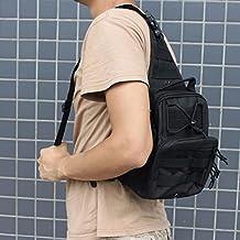 600D Outdoor Sports Bag Shoulder Military Camping Hiking Bag Tactical Backpack Utility Camping Travel Hiking Trekking Bag (Black)