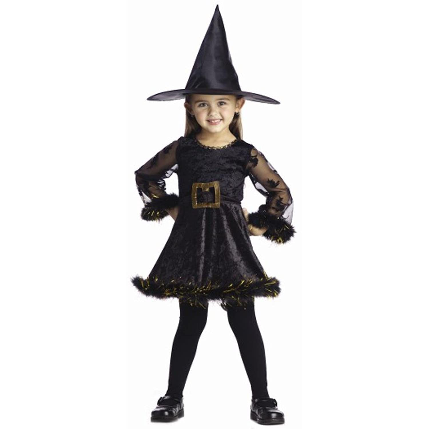 Amazon.com: Child's Cute Toddler Adorable Witch Halloween Costume ...