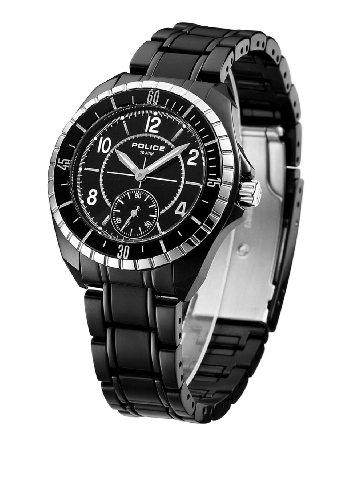 Police Women's PL-12207MSTB/02M Navy III Black IP Steel Bracelet Watch