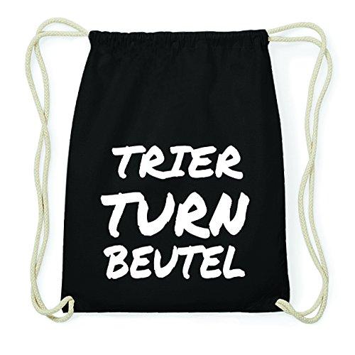JOllify TRIER Hipster Turnbeutel Tasche Rucksack aus Baumwolle - Farbe: schwarz Design: Turnbeutel VNnU0NO34x