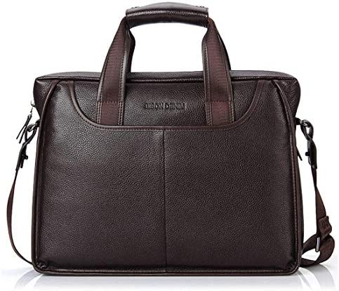 メンズpuレザーブリーフケースラップトップバッグブリーフケースハンドバッグサッチェルビジネスカレッジ用ポケット付き
