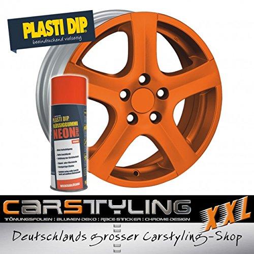 Pulvérisation de caoutchouc liquide Plasti Dip, néon-orange mat ... également êtra utilisé pour le corps néon-orange mat ... également êtra utilisé pour le corps carstyling-xxl.com